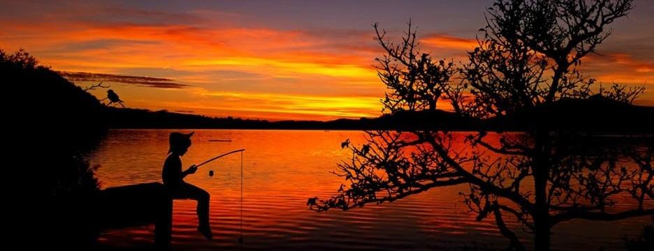 Image of boy fishing