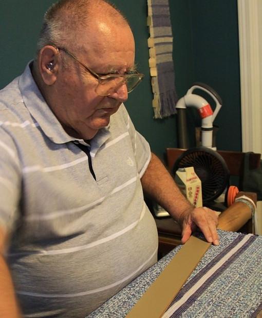 Image of Bob at his loom