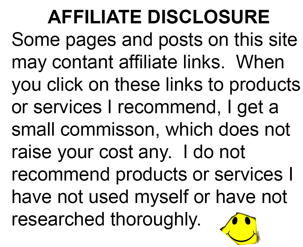 Affiliate Disclosure Image with text