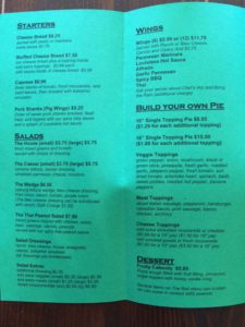 Image of The Rail Menu