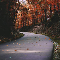 Image of a paved mountain trail