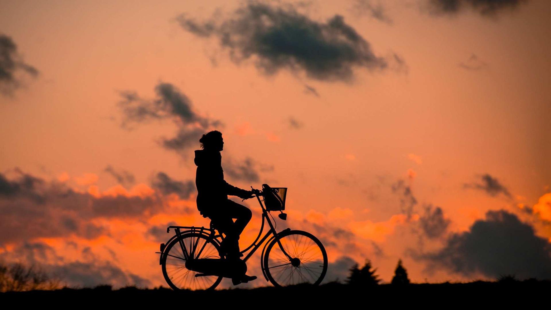 bike silhouette image