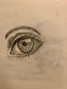 Image of Shirley's eye drawing